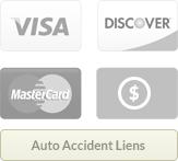 Visa, Discover, MasterCard, Cash, Liens